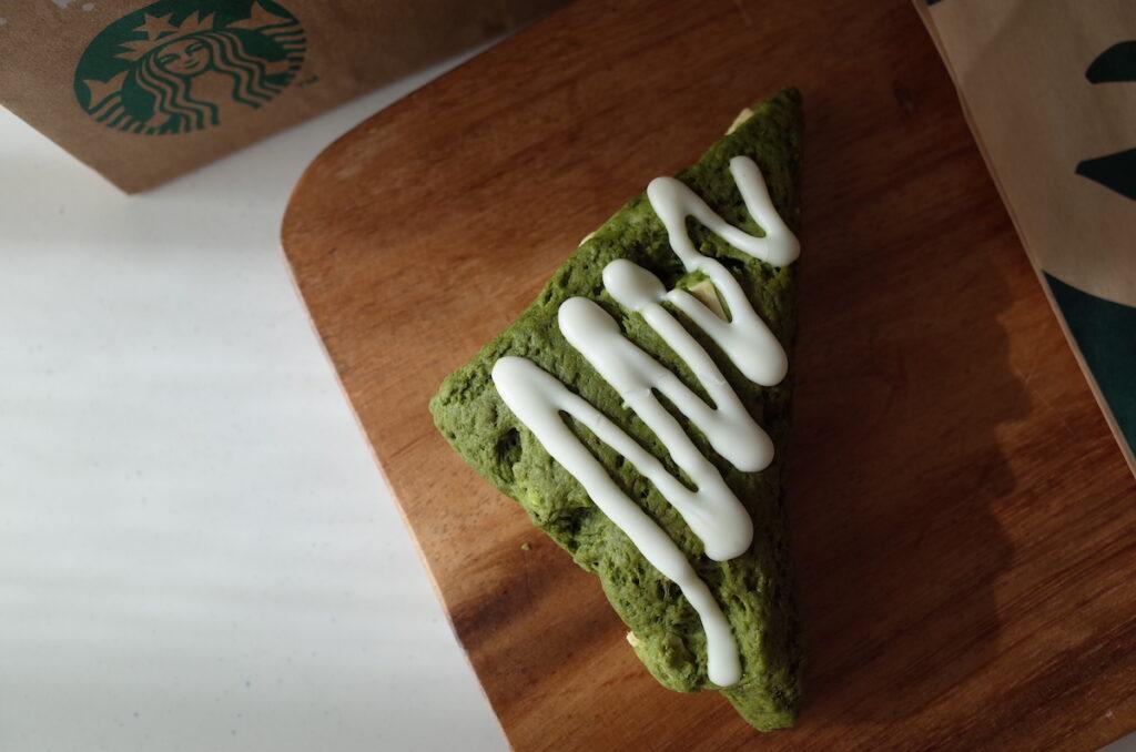 スターバックス 宇治抹茶ホワイトチョコスコーン